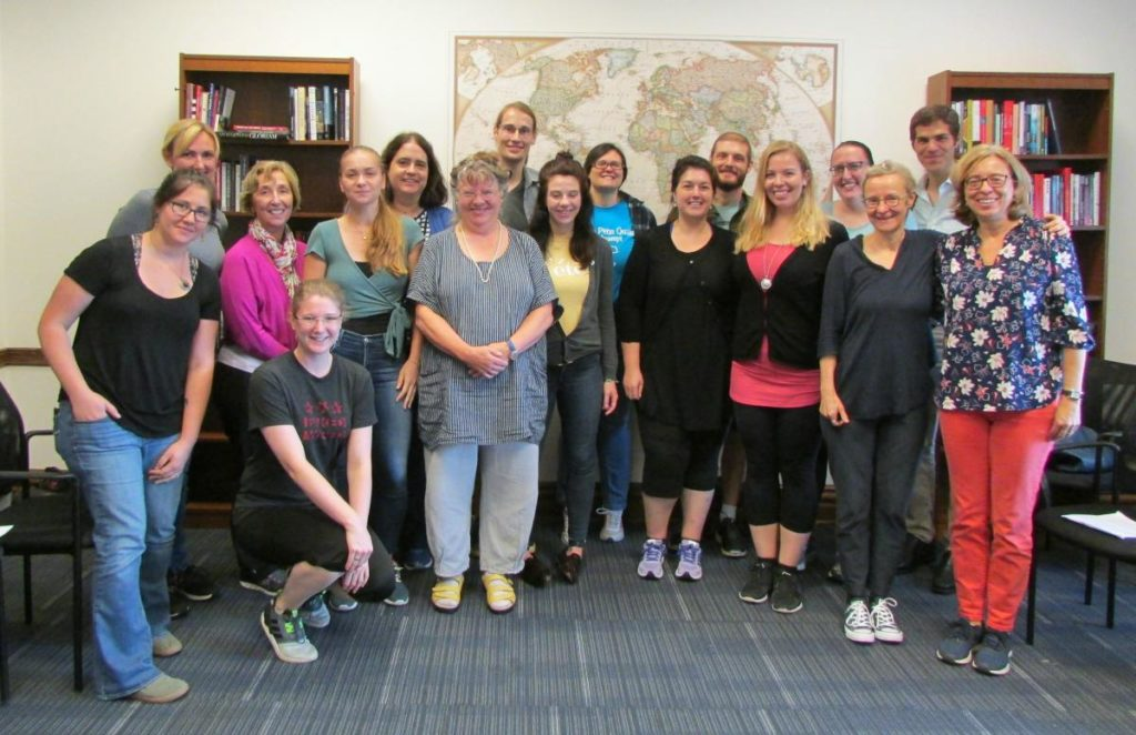 German Department Faculty and Graduate Students with Dr. Sabine Gross on September 15, 2018