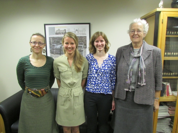 Dr. Katrin Sieg with Catherine Sandstrom and Aletha Smith with Dr. Heidi Byrnes