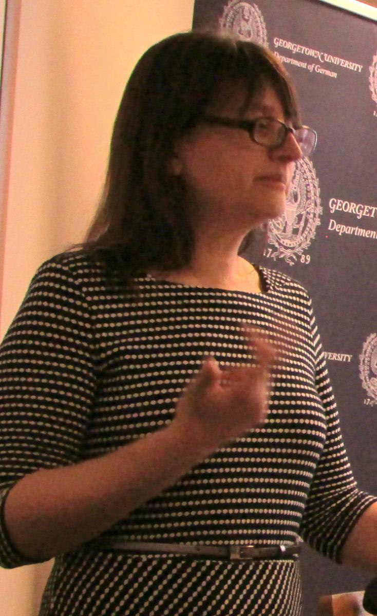 Dr. Andrea Geier during her presentation on 4/2/19