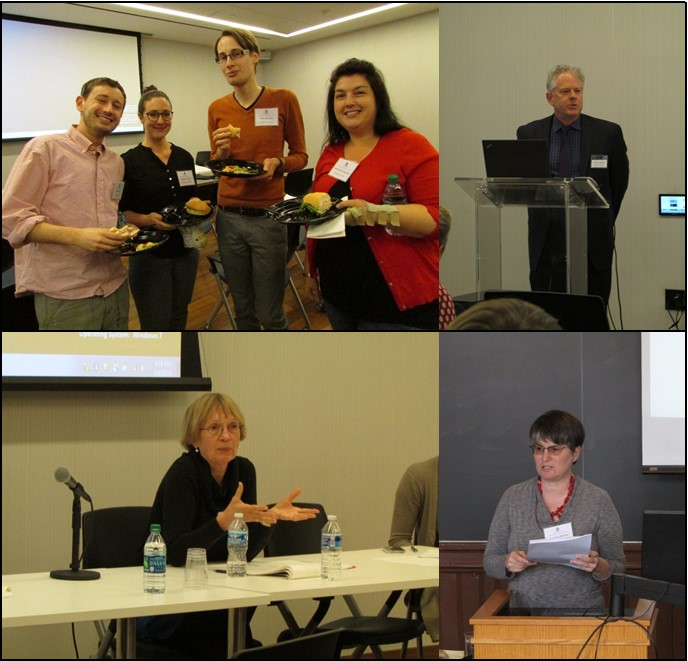 clockwise from upper left: Grad students Forrest Finch, Meghan O'Dea, Willi Barthold, and Aleksandra Starcevic; Dr. Jeffery Anderson; Dr. Barbara Mennel; Dr. Monika Shafi