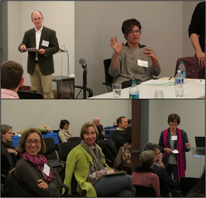 clockwise from upper left: Dr. Peter C. Meilaender; Dr. Beth Muellner; Prof. Friederike Eigler; Profs Banchoff and Weigert