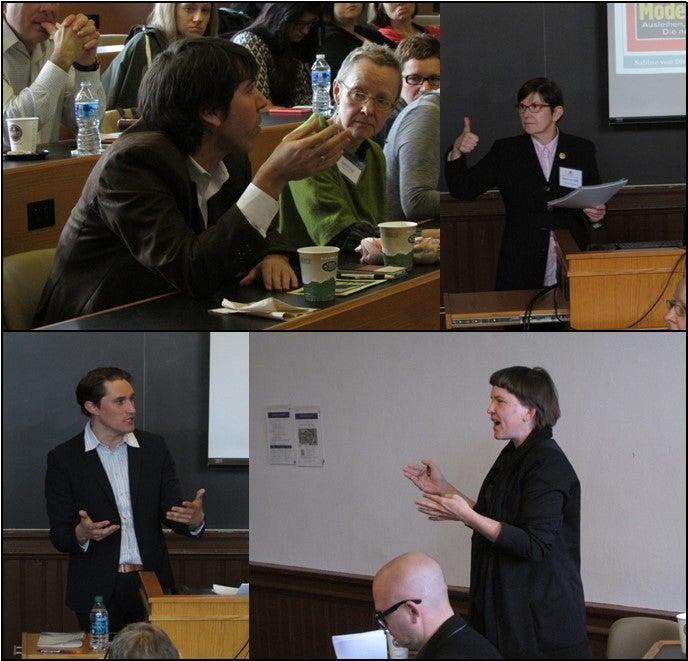 clockwise from upper left: Prof. Mark Lauer and Prof. Katrin Sieg; Dr. Sabine von Dirke; Dr. Anna Echterhölter; Dr. Michael Festl