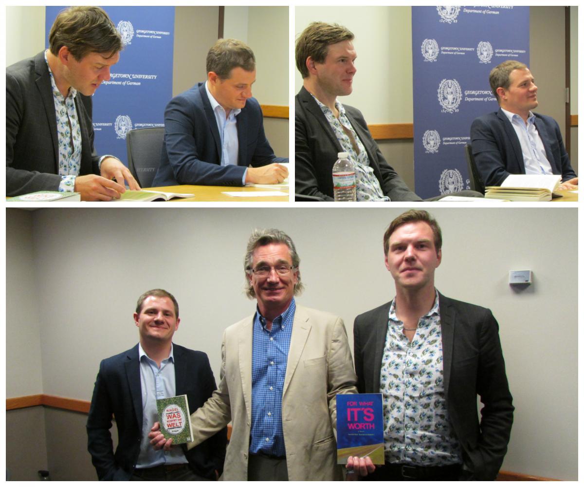 Thorsten Nagelschmidt, Tim DeMarco and Professor Peter Pfeiffer