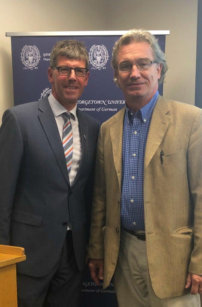 Dr. Michael Jäckel and Prof. Peter Pfeiffer
