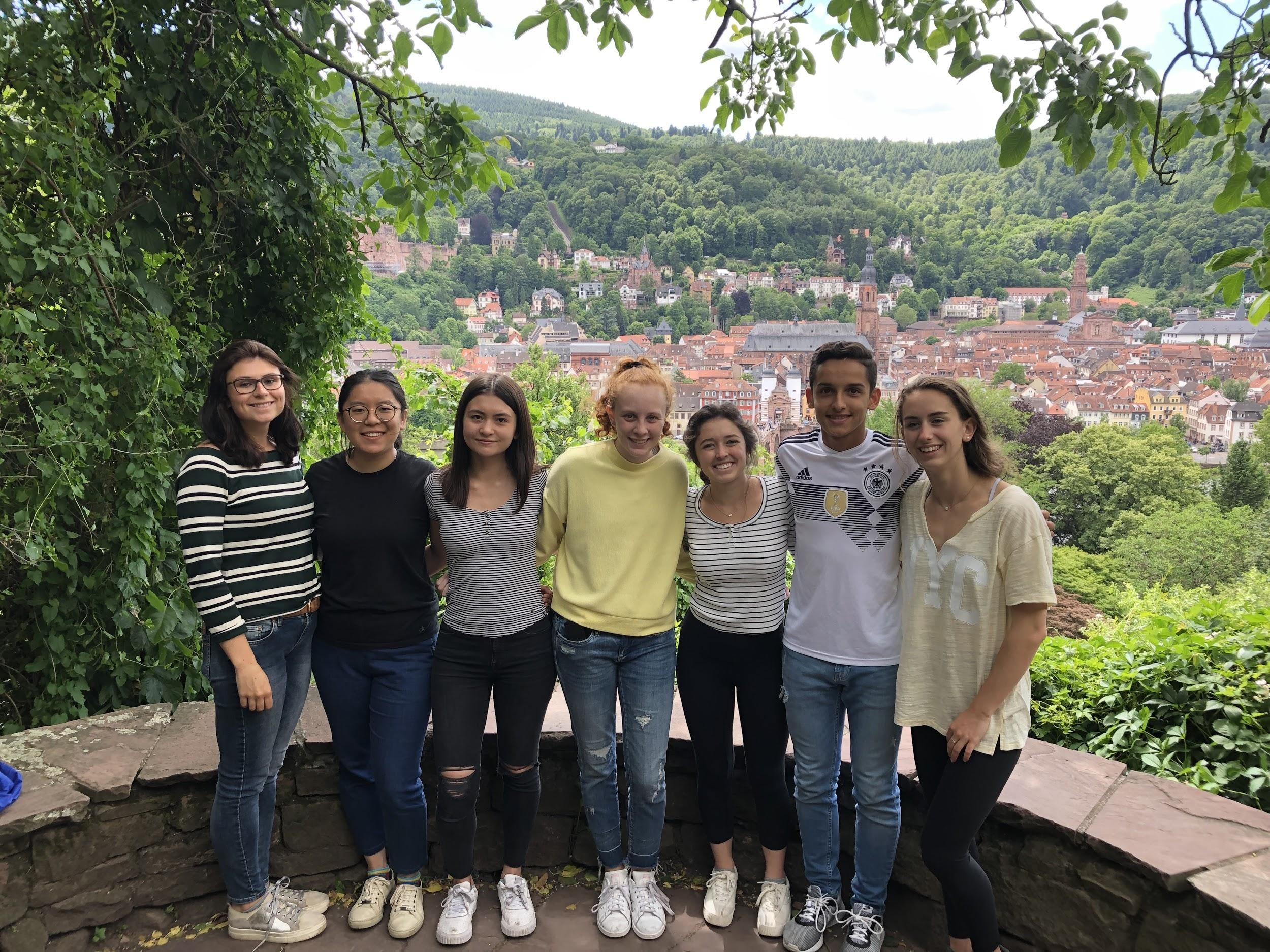 Georgetown University students during the 2019 Summer-in-Trier program