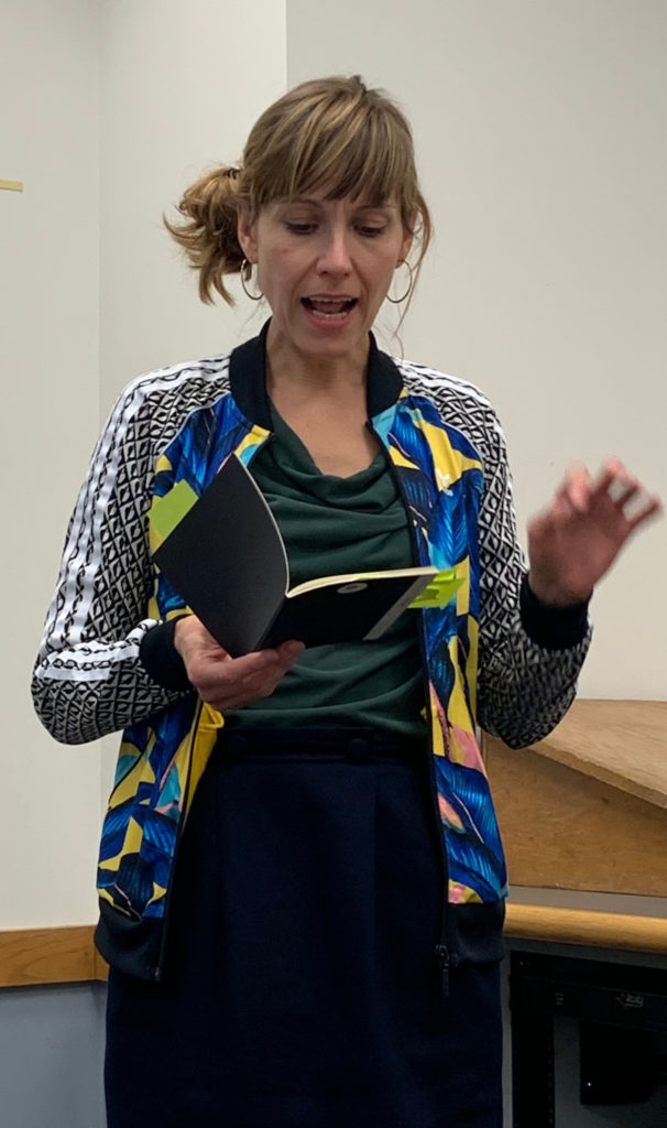 Dr. Nika Pfeifer during the poetry reading TUCSONICS